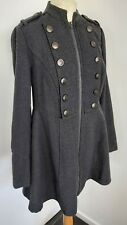 Torrid Grey Herringbone sexy military inspired coat size 00 UK 10