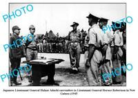 OLD LARGE PHOTO WWII JAPANESE SURRENDER PAPUA NEW GUINEA c1945