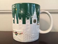 Starbucks London UK 2015 Christmas Holiday Relief Coffee Mug 16 oz - New