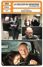 FICHE CINEMA : LA COULEUR DU MENSONGE - Kidman,Hopkins 2003 The Human Stain