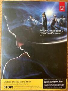 Adobe Creative Suite 6 Production Premium Mac OS Student & Teacher Edition NEW