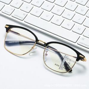 Eyebrow Progressive Multifocal Glasses Anti Blue ray Transition Reading glasses