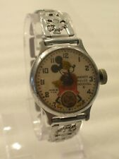 """1930's """"Made in USA"""" Ingersoll Mickey Mouse Watch Orig. Bracelet & Serviced!"""