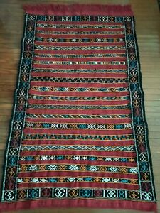 Vintage Mermousha Rug Hand Woven by Berber Berber Carpets.natural rug.berber teppich 55 x 31 inches 140 x 80 Cm Rug Moroccan