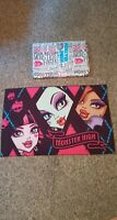 Monster High 2013 Twin Size Flat Sheet & Standard Size Double Sided Pillowcase