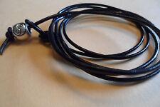 Cuir Noir enveloppé/Bracelet de cheville/Thong/Surf Bouton de manchette/bracelet
