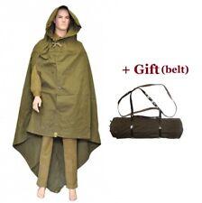 Soviet russian red army soldier rain cape poncho plash-palatka tent coat + BELT