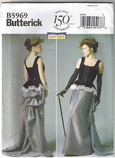 Victorian Steampunk Dress Corset Skirt Bustle Peplum Sew Pattern 14 16 18 20 22