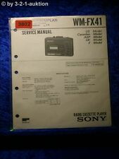 Sony Service Manual WM FX41 Cassette Player (#3802)