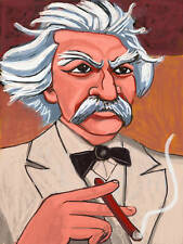 MARK TWAIN CIGAR PRINT poster clemens cuban smoking tom sawyer huckleberry finn