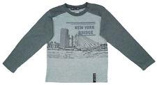 T-shirts et hauts gris à manches longues en polyester pour garçon de 2 à 16 ans