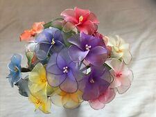 Handmade Nylon Stocking Flowers Wire Trim Custom Occasion Gift Bouquets
