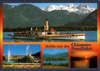 Schiffsfoto-AK Ship Schiff Dampfer Ludwig Fessler Chiemsee-Rundfahrt Bayern AK