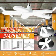 45/60/75/80W LED Garage Light Deformable Ceiling Fixture Lights Workshop Lamp