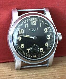 Vintage Etanche 88 DH German Military WWII wristwatch