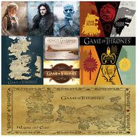 Game Of Thrones Postcards Essos Targaryen Stark Lannister Westeros Kings landing