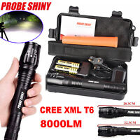 8000LM 5Mode CREE XML T6 LED ZOOMABLE Flashlight 18650&Charger Torch Lamp 2017