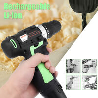 12V Battery Rechargeable Cordless Electric Drill Screwdriver Tool With
