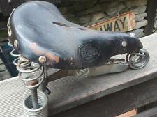 Primus großer ur alter ledersattel fahrrad sattel gefedert - KELLER Fund 22