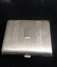 "Mid 20Th Century Silver Tone ""Presto"" Etched Cigarette Case"