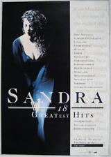 SANDRA POSTER 18 GREATEST HITS
