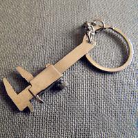 Vernier Caliper Ruler Model Keychain Key Chain Pocket Key Ring Vernier Gift WE