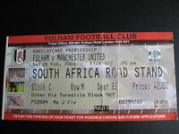 FULHAM V MANCHESTER UNITED  28/02/2004  USED TICKET STUB