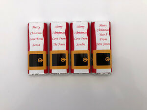 36 Personalised Christmas Chocolate Bar WRAPPERS  Ideal gift friend, teacher SB