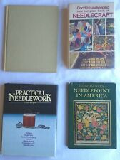 4 Vintage Needlework/Needlepoint Books Good Housekeeping Sylvia Sidney Crafts