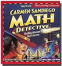 Carmen Sandiego MATH DETECTIVE Educational PC/Mac Game For Age 8-14 - NEW CDrom