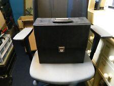 """12"""" vinyl record case in black"""