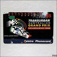 Telstra Transurban Australian F1 Grand Prix 1996 A960212 1082 $5 Phonecard (PH4)