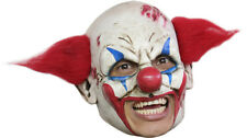 ZOMBIE CLOWN DELUXE CHINLESS HEAD MASK WITH CHINSTRAP LATEX HALLOWEEN MASK