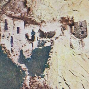 Arizona Hancos Canyon Cliff Dwellings Panorama Lithoview Litho Stereoview C212