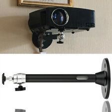 Black 21.5cm Mini Projector Ceiling Wall Mount Bracket Aluminium 5Kg Capacity