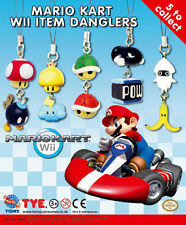 Mario Kart Wii item danglers Nintendo Tomy Mario Kart key danglers FULL SET OF 5
