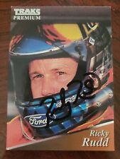 Ricky Rudd, Autographed 1994 Traks Premium Racing Card #191 (VG)
