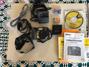 Nikon Coolpix 5400 5.1 MP Digital Camera w/4x Optical Zoom, case .manual,disc .