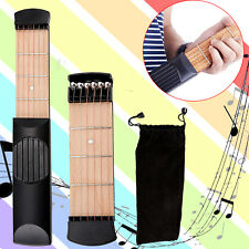 Portable Pocket Guitar Bass Practice Tool 6 String 4 Fret Gadget Chord Trainer