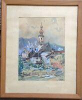 ::SANKT GILGEN BEI SALZBURG ÖSTERREICH SIGNIERT EMIL NOVOTNY 1941 AQUARELL ANTIK