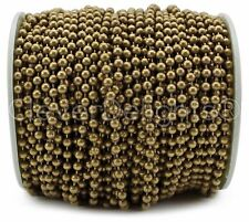 Ball Chain Spool - 30 Feet - Antique Bronze Color - 3.2mm Ball #6 - Bulk Pack