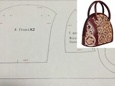 Leather Pattern DIY Designs Lady Shell Bag Paper Sweing Template Tools 9027