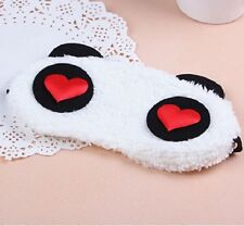 Cute Panda 3D Soft Eye Sleep Mask Padded Shade Cover Rest Travel Relax Blindfold