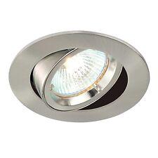 Saxby Cast Indoor Recessed Tilt Light Satin Nickel Effect 50W GU10 Reflector