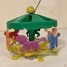 Vtg Plastic Hong Kong DollhouseToy Horse Carousel Merry-Go-Round CARNIVAL RIDE