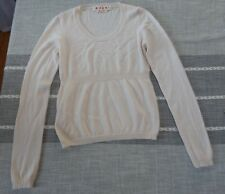 marni 100% cashmere ivory/white/cream sweater 38 xs made in italy