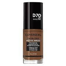 NEW! Covergirl Trublend Matte Made Liquid Foundation, D70 Cappuccino, 1FLoz