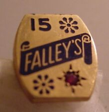 Pin - Falley's Grocery - Topeka, Kansas - 15 Year - 10K Gold with Ruby???