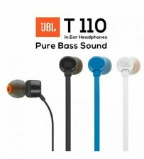 JBL T110 In-Ear Headphones with Remote w/ Microphone Black Blue White All Colors