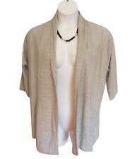 Open Front Cardigan Sweater Size 1X 18W 20W Light Knit Gray Lane Bryant Flaw